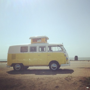 VW Camper half moon bay California